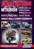 Купить руководство по ремонту Книга Mitsubishi двигатели 4G63, 4G63-Turbo, 4G64/ Hyundai G4JP, G4JS/ Great Wall/