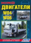 Купить руководство по ремонту Книга Hino двигатели W04, W06