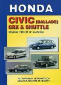 Купить руководство по ремонту Книга HONDA CIVIC (BALLADE) CRX & SHUTTLE