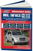 Купить руководство по ремонту Книга Mercedes-Benz ML ML320/430 (W163) 1997-02 бенз. M112(3,2), M113(4,3) серия ПРОФЕССИОНАЛ Ремонт. Экспл. ТО (Каталог расход. з/ч. Характерные неисправ.)