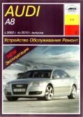 Купить руководство по ремонту Книга Audi A8 (модели 4Е2 и 4Е8) (2002-10) б/д Устройство.Обслуживание.Ремонт.Эксплуатация